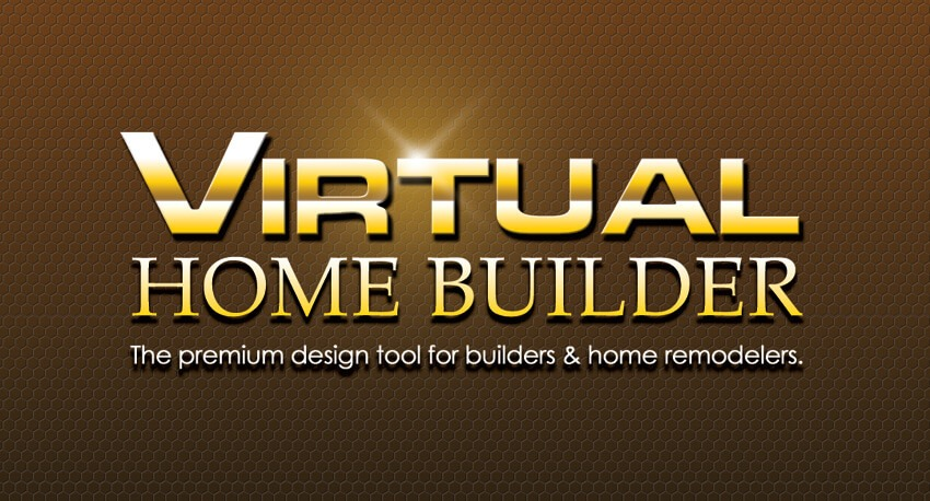 Logo design corporate identity and company branding for Virtual home builder