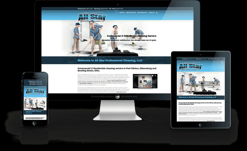 ALL STAR PROFESSIONAL CLEANING, LLC web design.