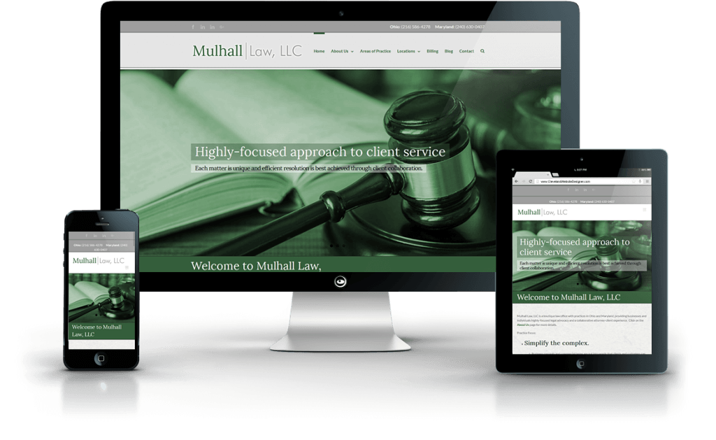 Mulhall Law, LLC law firm web design
