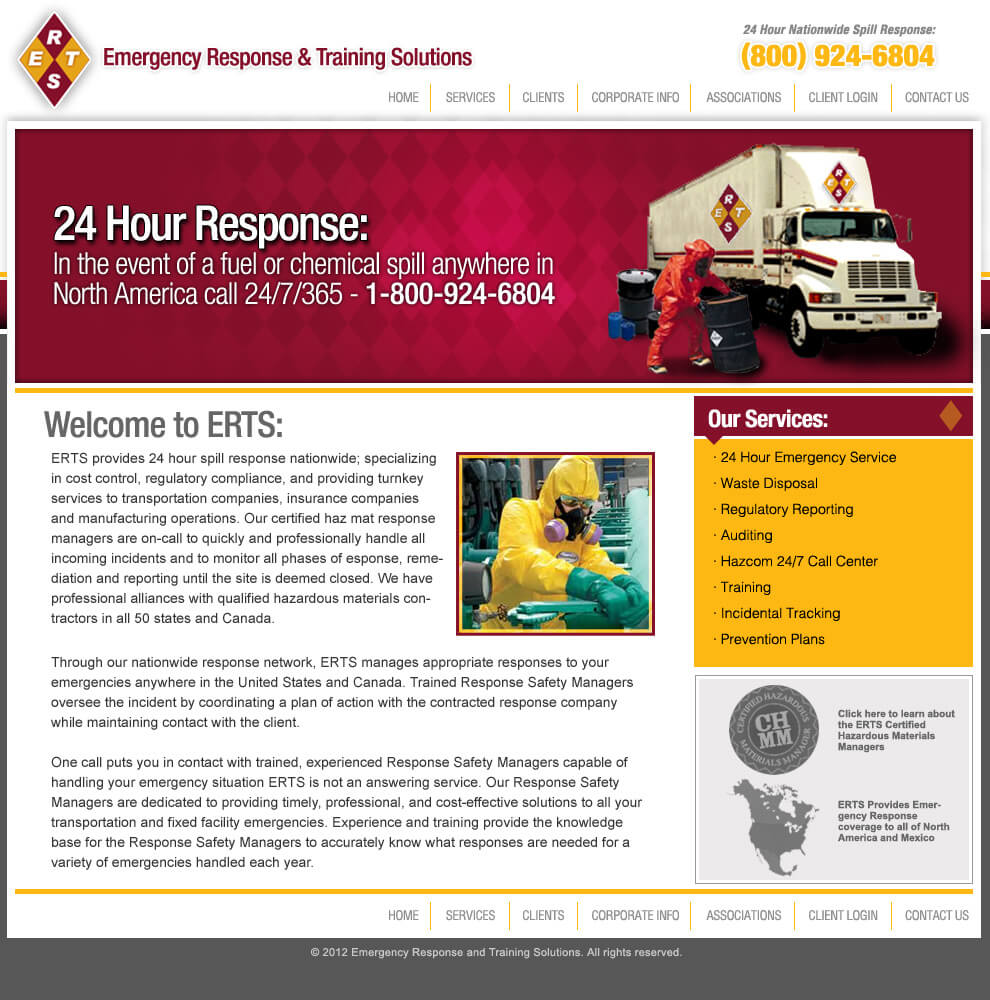 ERTS web design