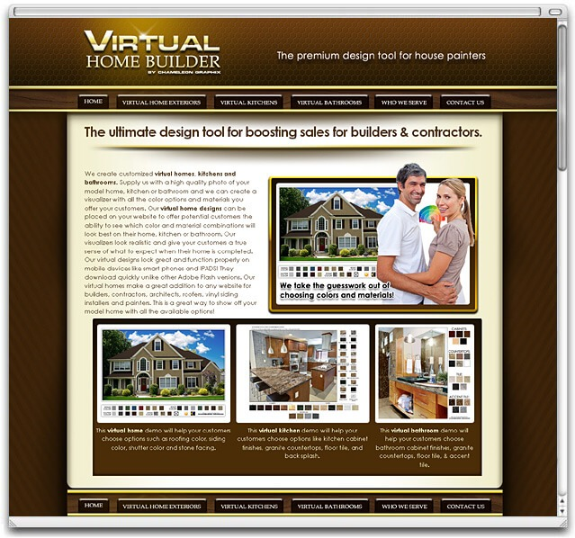Website design cleveland website designer for Virtual home builder free