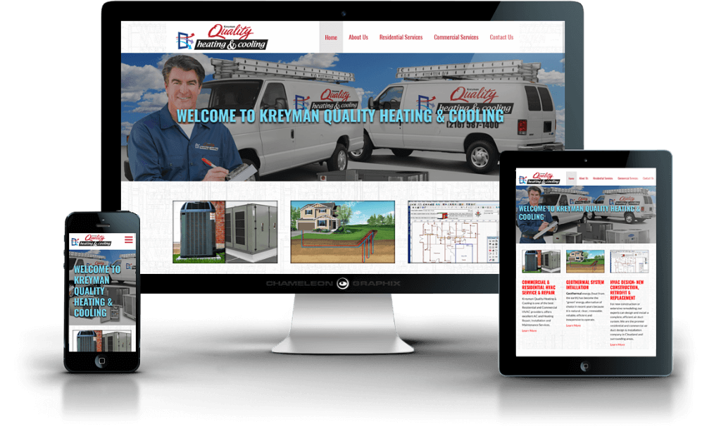Kreyman Quality Heating & Cooling web design