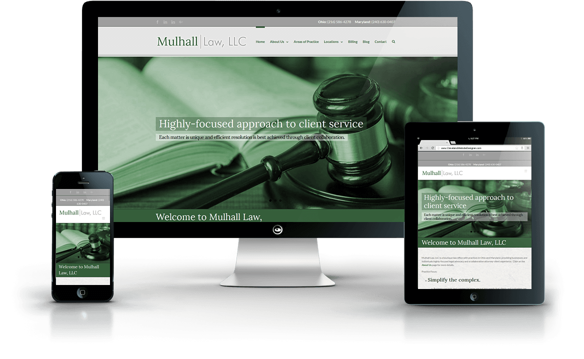 Mulhall Law, LLC law firm web design